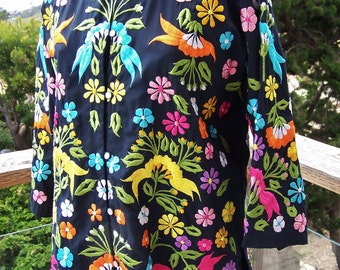 Embroidered Tunic, Embroidered Jacket, Embroidered Blouse, size M / L
