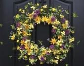 Summer Wreaths, Yellow Daisy Wreath, Summer Front Door Wreaths, Door Wreaths for Summer, Handmade Wreaths for Summer, Etsy Wreaths, Wreaths