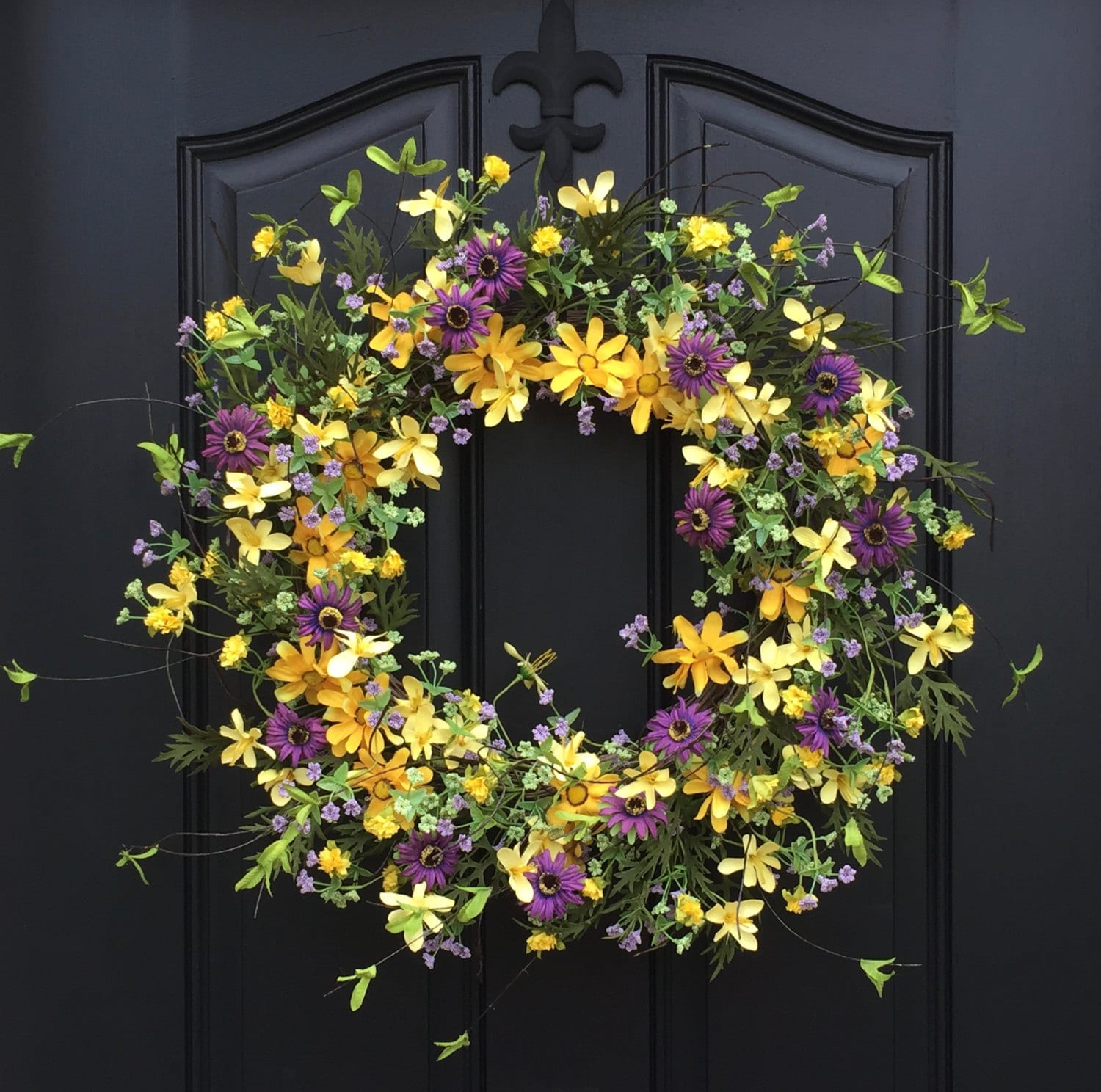 summer wreaths for front doorSummer Wreaths Yellow Daisy Wreath Summer Front Door
