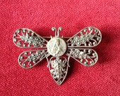 Silver plated religious filigree butterfly