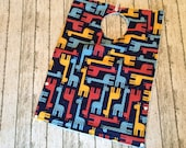 Toddler Pocket Bib | Navy Blue Giraffe Zoologie Fabric | Absorbent Big Kid Full Coverage for messy eaters