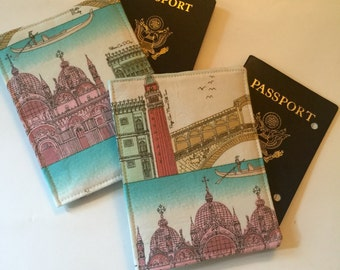 Passport Cover, Passport Wallet, Italian landmarks, 2 available
