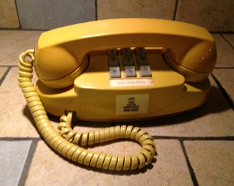 1983 Golden Yellow Princess Touch Tone Telephone