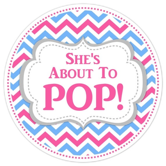 baby shower about to pop labels chevron baby shower labels about to
