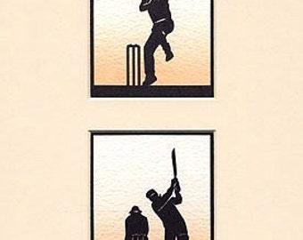 Cricket Hand Cut Papercuts (Pair)