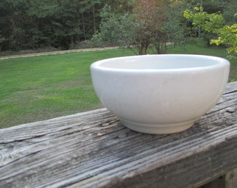 Vintage Restaurant Ware Sterling Vitrified China Cereal Bowl--Soup Bowl--Made in USA--East Liverpool Ohio--Retro Kitchenware--