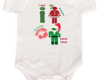 Funny Christmas Bodysuit Baby's First Christmas Newborn One Piece or Infant  tshirts to Toddler tshirts Baby Bodysuits