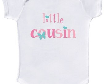 Little Cousin Bodysuit Baby Girl Cousin Rompers Mumsy Goose Newborn Bodysuits to Kids Tees  Sibling Shirts