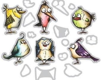 Thinlets Bird Crazy Dies - Tim Holtz Alterations - Sizzix