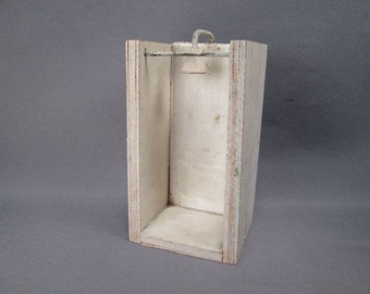 """Antique Wooden Dollhouse Furniture - Bathroom Shower Stall - 3/4"""" Scale"""