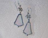 Celtic clear glass earrings
