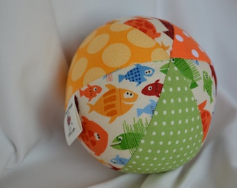 Cloth Jingle Ball Baby Toy with FISH fabric