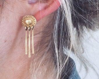 Golden Concho Earrings