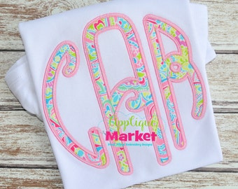 Machine Embroidery Design Embroidery Lilly Circle Monogram Applique Satin Stitch INSTANT DOWNLOAD