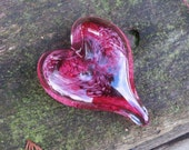 Pink Swirl Glass Heart, S...