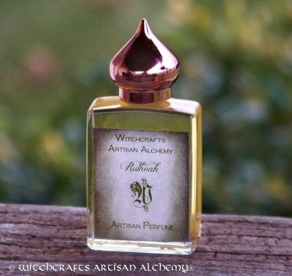 RUTHVAH - Aleister Crowley's Elixir of Love w/ Musk Ambergris & Civet Master Crafted by Witchcrafts Artisan Alchemy in Black Velvet Gift Bag