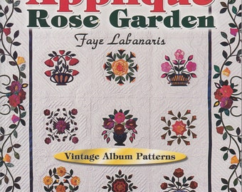 Applique Rose Garden Vintage Album Patterns - Quilting Book and Patterns