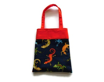 Fabric Gecko Gift/Goodie Bag - Geckos