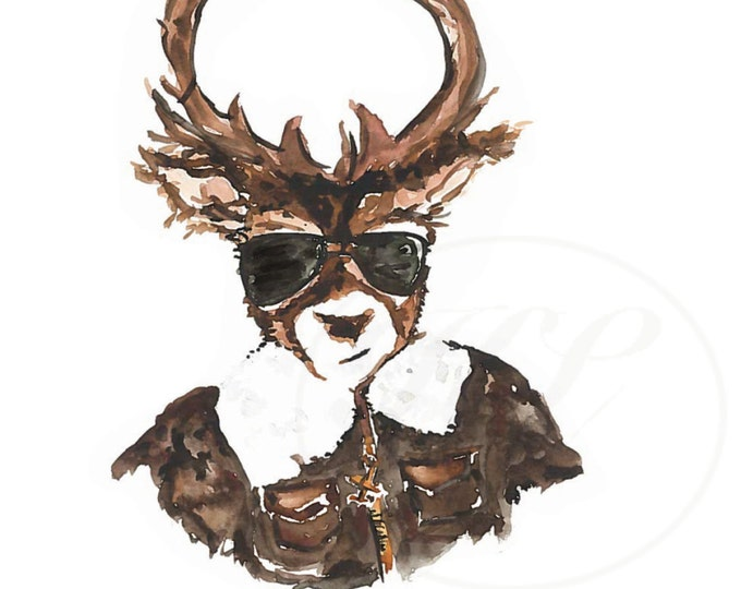 Cool Dad. Top Gun Deer Printable Print