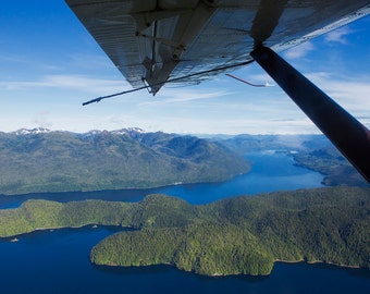 Misty Fjords Sea Plane View - 11x14 Photo Print - Ketchikan, Alaska