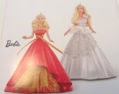 Holiday Barbie Ornament Set, Celebration Barbie, Barbie Ornaments, Hallmark Barbie Ornament Set, Year 2015 Keepsake