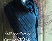 Shawl Knitting Pattern PDF - A Walk on the Beach Shawl - shawl wrap scarf cowl gift - knitting pattern using dk or sport yarn