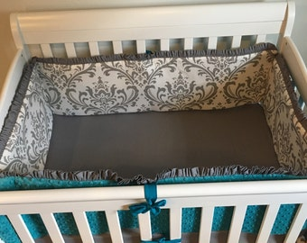 YOU DESIGN Custom 4pc MINI Crib Bumper Set Pick Your Fabric
