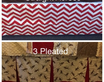 YOU DESIGN Custom Mini Crib Skirt Pick Your Fabrics