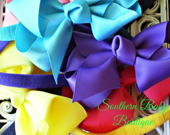 NEW ITEM----Boutique Baby Toddler Girl Hair Bow Skinny Headband----You Pick Color----