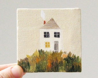 october house / original painting on canvas