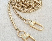 "Mini Braided Chain - GOLD Luxury Chain Strap - 3/16"" (4mm) Wide - Choose Length & Hooks/Clasps"