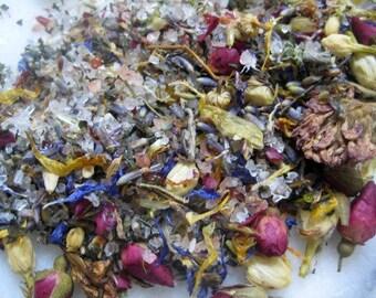 Detox Bath Salts - Nurturing Bath Tea, detoxify in Dead Sea + Pacific mineral sea salts + essential oil therapy