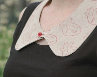 Heart Printed Collar