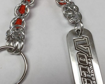 University of Tennessee Vols Swarovski Crystal Chainmaille Keychain