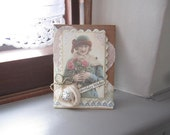Handmade Birthday Card - Vintage Lady Card - Victorian Lady Card