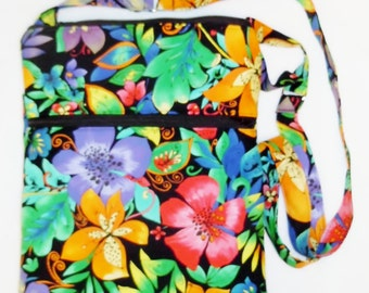 ON SALE - Hawaiian Flowers Floral Tropical Hibiscuts - Hipster with Adjustable Strap, Bag, Purse