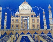 Valentine gift  Greatest LOVE STORY ever  Taj Mahal monument to love imarble.Handmade with rice straw,dried leaves of rice plant Valentine