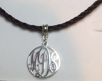 Initial Pendant Sterling silver Pet