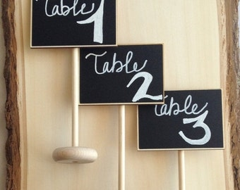 Get Organized SALE- 8 Mini Table Chalkboard Stands, Place Settings, Wedding Chalkboards, Buffet Labels, SEEN in BRIDES Magazine