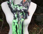 Handspun Freeform Merino Wool Scarf