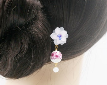 Blossom dangle hair fork (HF)