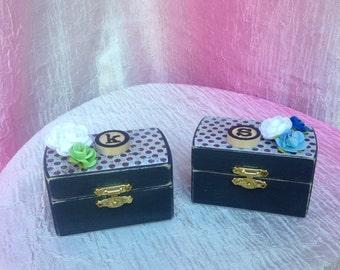 Ring Bearer box, Trinket box, Stash box, Jewelry box, Toothfairy box, Gift box