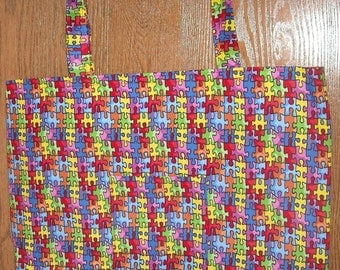 Autism bag with purple lining