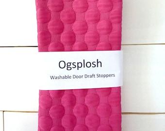 Door Draft Stopper - Nursery Decor - Girls Bedroom Decor - Light Blocker - Modern Home Decor - Hot Pink Door Snake. 124