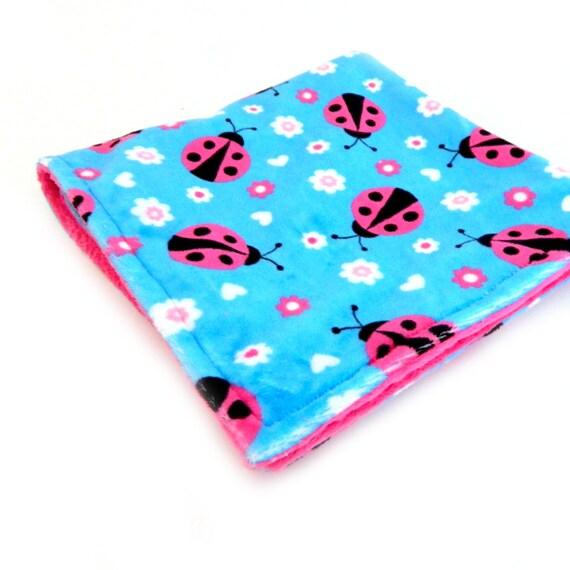 ready to mail 20 minky baby blanket lovie ladybug