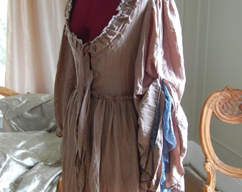Country peasant Antoinette Victorian inspired rococo costume top bodice