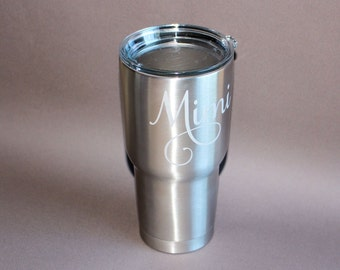 Stainless Tumbler - Engraved - Etched - Food and Drink - Personalized - 30 oz - Insulated - Father's Day - Graduation Gift - RTIC Tumbler