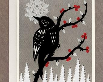 Winter Berries - Greeting Card