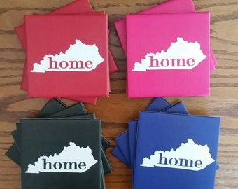 Kentucky Home Ceramic Tile Coasters Set of 4