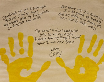 Your Child's Hand Print